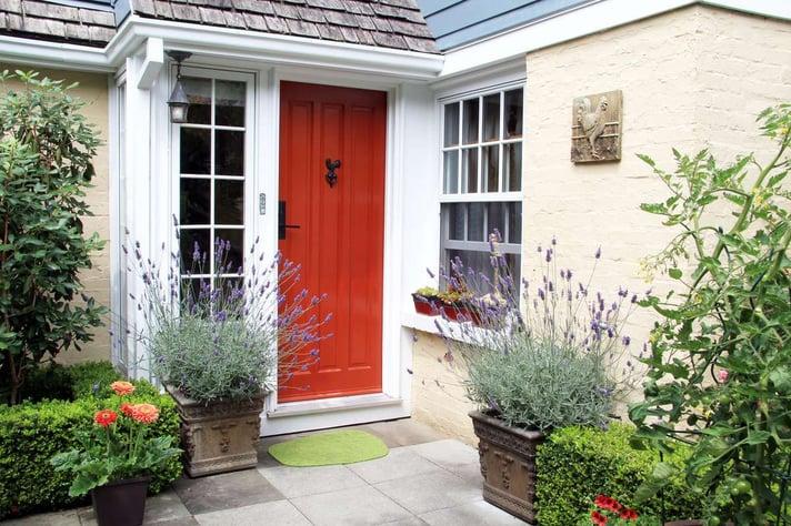 Charming red front door (R) (S)