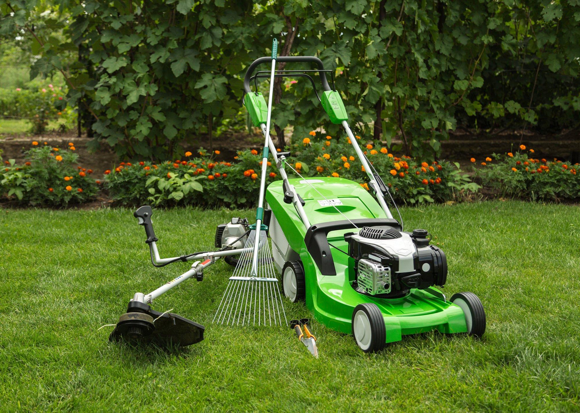 Outdoor shot of garden equipment