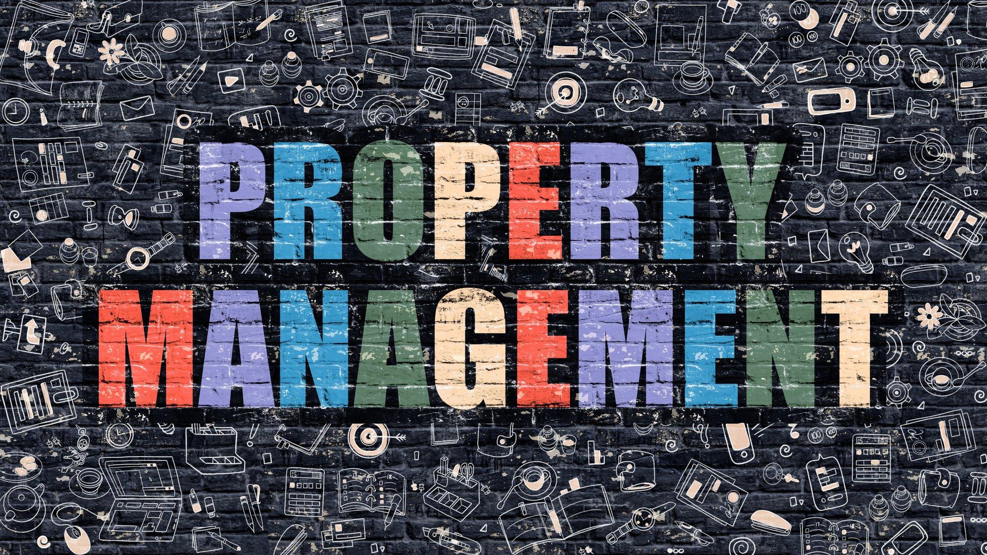 Property Management in Multicolor. Doodle Design