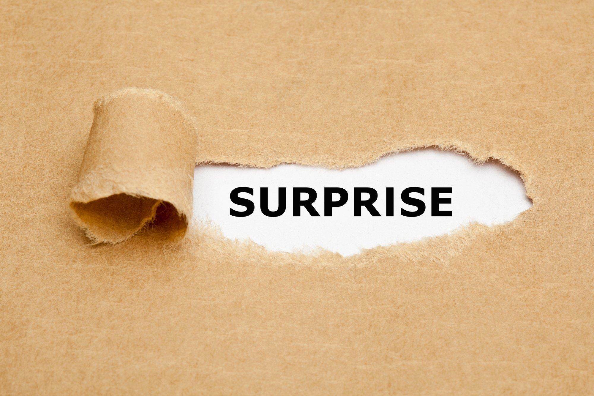 Surprise Torn Paper Concept