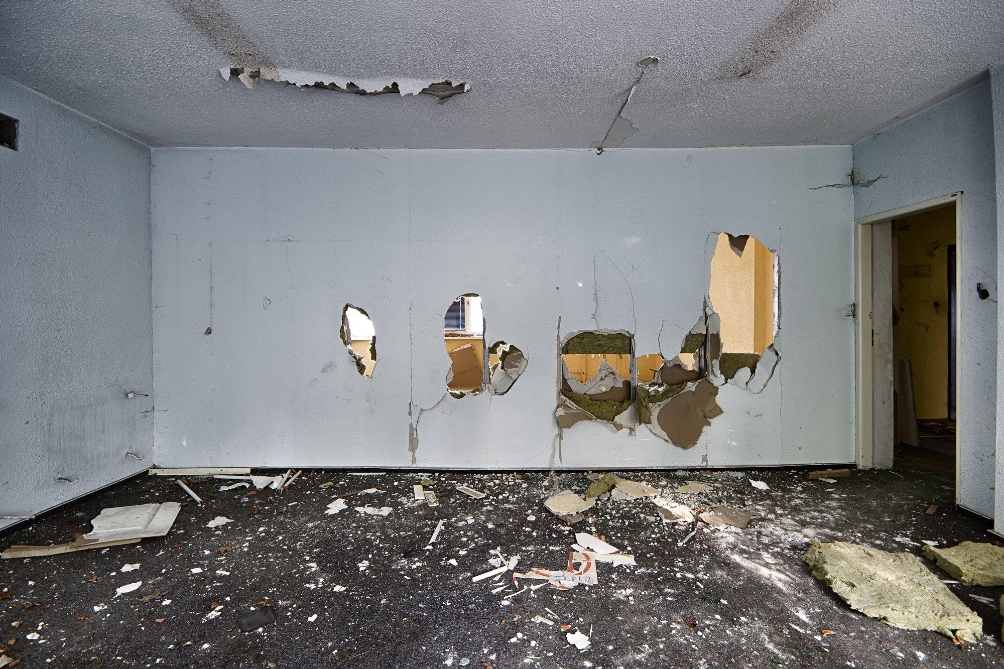 The devastated room