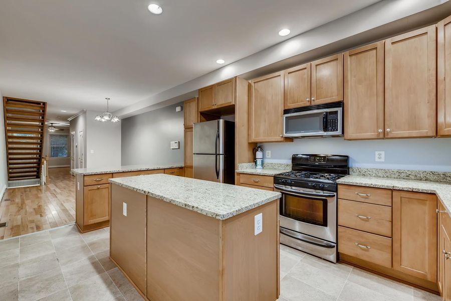 A beautiful Baltimore kitchen inside a rental home
